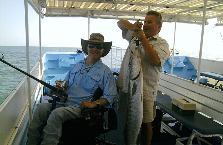 an 11kg Barracuda caught with a Reel Keen rod holder